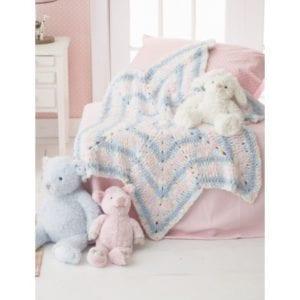 Crochet Soft Stripes Star Blanket