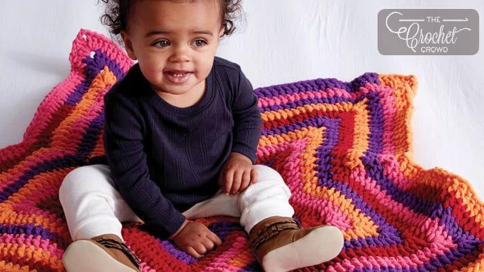 Bernat Blanket Stripes Crochet Star