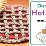 Crochet Cherry Pie Hot Pad + Tutorial