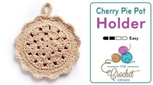 Crochet Cherry Pie Pot Holder