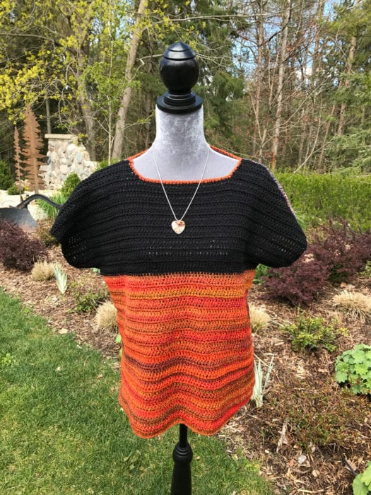 Crochet Colour Block Top Tutorial Sample by Mikey