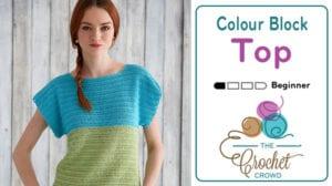 Crochet Color Block Top