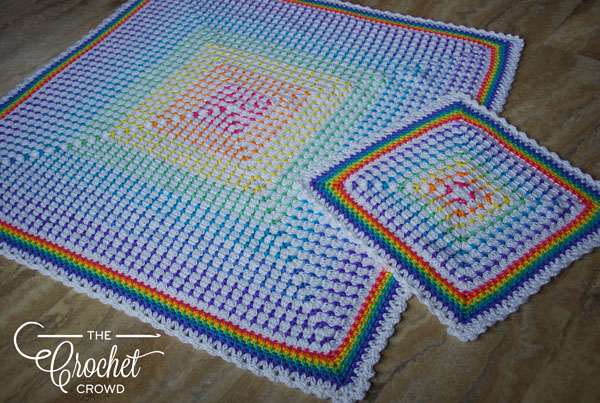 Rainbow Baby Lovey by Jeanne Steinhilber