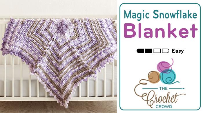 Crochet Snowflake Baby Blanket Pattern