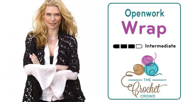 Crochet Openwork Shawl / Wrap