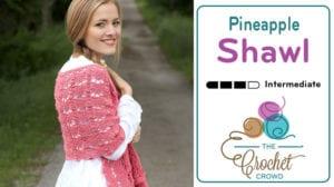 Crochet Pineapple Lace Shawl