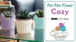 Crochet Pot Pals Flower Cozy