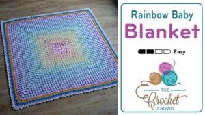 Crochet Rainbow Baby Blanket
