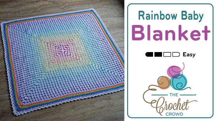 Crochet Rainbow Baby Blanket Pattern