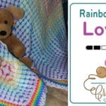 Crochet Rainbow Baby Lovey Pattern