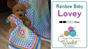 Rainbow Baby Lovey by Jeanne Steinhilber
