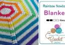Crochet Hexagon Rainbow Newborn Blanket