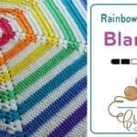 Crochet Hexagon Rainbow Newborn Blanket