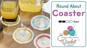 Crochet Round About Coasters