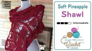 Crochet Soft Pineapple Shawl