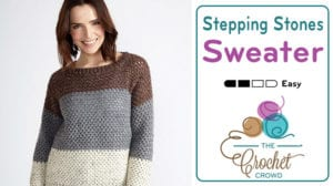 Crochet Stepping Stones Pullover Sweater