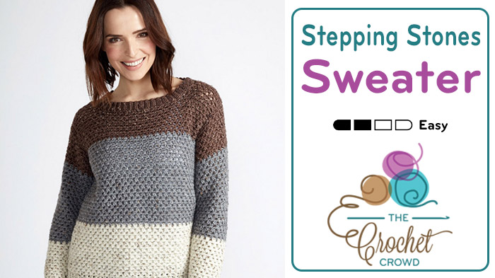 Crochet Stepping Stones Sweater Pattern