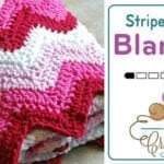 Crochet Striped Baby Blanket