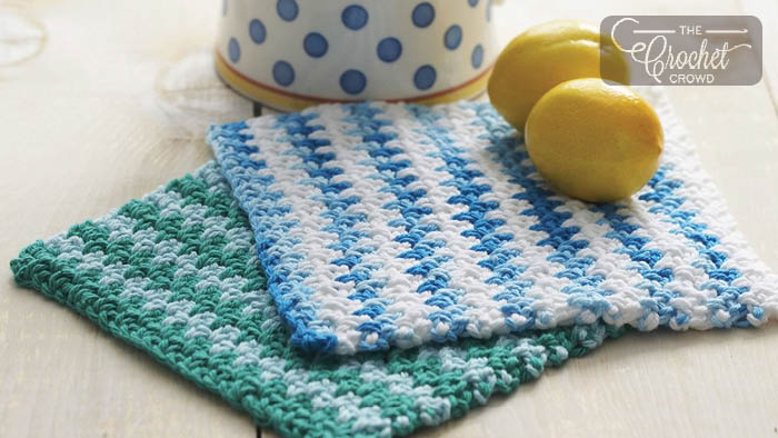 Crochet Easy Dishcloth + Tutorial | The Crochet Crowd