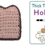 Crochet Thick Toast Pot Holder + Tutorial