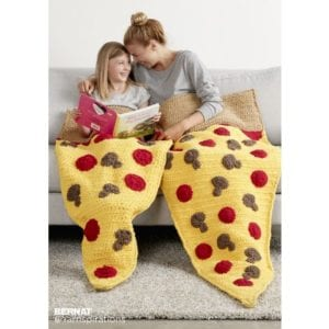 Crochet Pizza Snuggle Sack