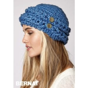 Bernat Crochet Mock Cable Hat