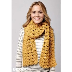 Bernat Crochet Shifting Shells Scarf