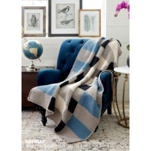 Crochet Big Plaid Blanket