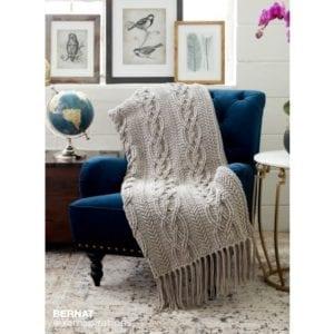 Crochet Cablework Afghan
