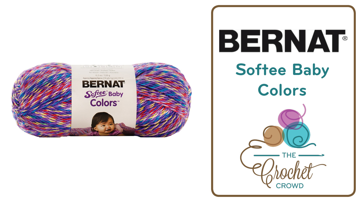 What To Do With Bernat Softee Baby Colors Yarn - The Crochet Crowd®