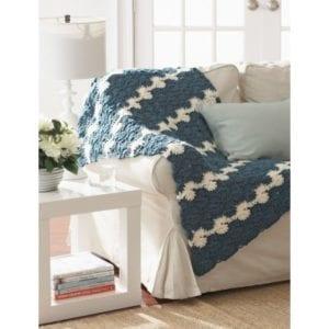 Crochet Gentle Waves Lap Blanket