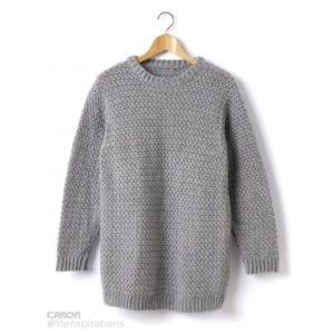 Crochet Crewneck Adult Sweater