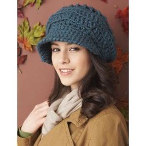 Crochet Slouchy Peaked Hat