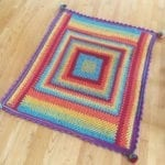 15 Giant, Giant Granny Square Blanket crocheted by stephlewis2