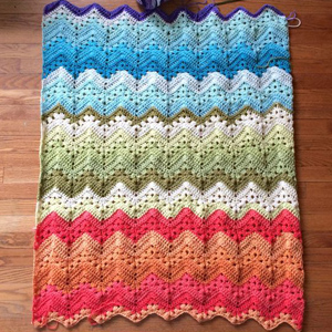 7 6-Day Kid Blanket crocheted by knittinghoneybee