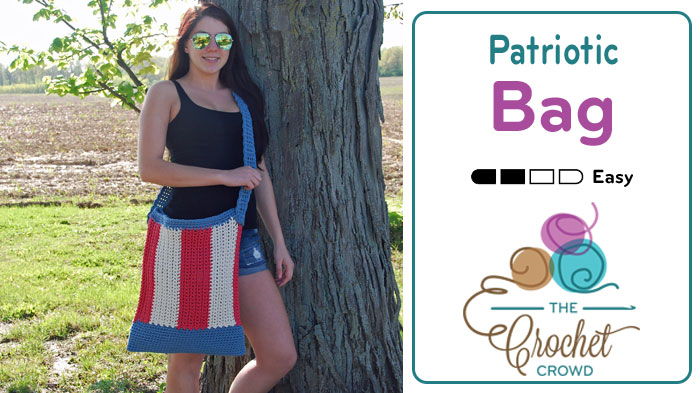 Crochet Patriotic Summer Tote Bag by Jeanne Steinhilber
