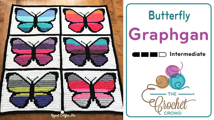 Crochet Butterfly Graphgan by Repeat Crafter Me