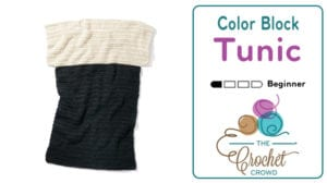 Crochet Color Block Tunic