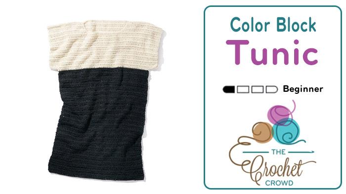 Crochet Colour Block Tunic Pattern + Tutorial
