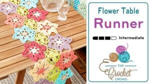 Crochet Flower Power Table Runner