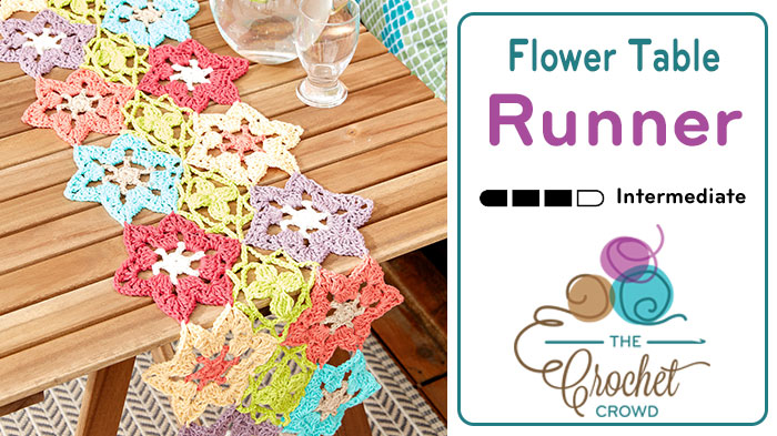 Flower Power Crochet Table Runner Tutorial The Crochet Crowd