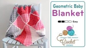 Crochet Geometric Baby Blanket