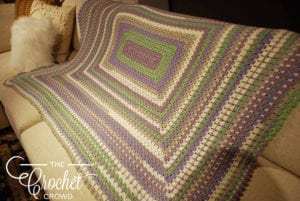 Modern Rectangle Granny Afghan by Jeanne Steinhilber
