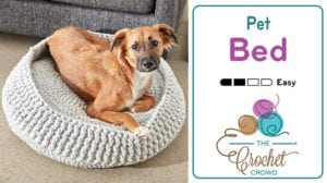 Crochet Peg Bed, Cats or Dogs