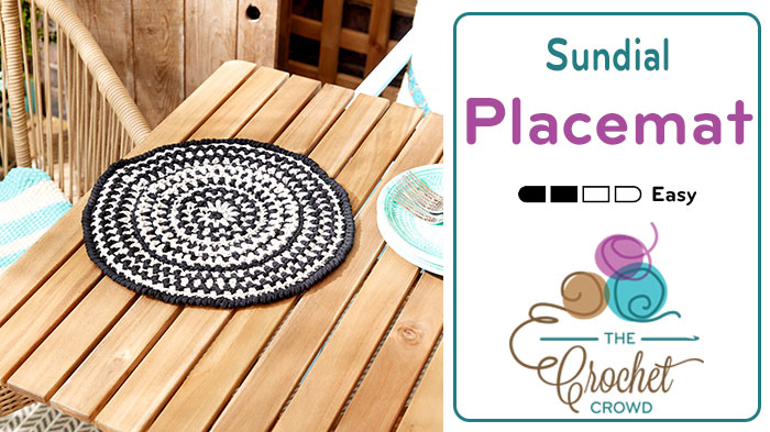 Sundial Crochet Placemat Tutorial The Crochet Crowd