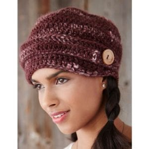 Crochet Button Brim Hat