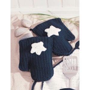 Crochet American BBQ Mitts