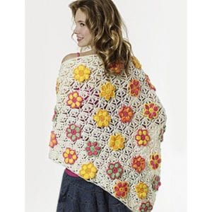 Crochet Summer Flowers Shawl