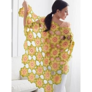 Crochet Garden Flowers Shawl