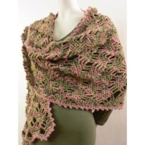 Crochet Lattice Shawl